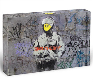 Banksy Smiley Riot Cop Acrylic Block - Canvas Art Rocks - 1