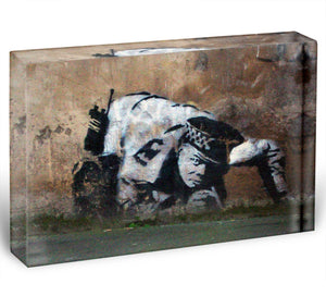 Banksy Snorting Policeman Acrylic Block - Canvas Art Rocks - 1