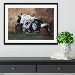 Banksy Snorting Policeman Framed Print - Canvas Art Rocks - 1