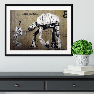 Banksy Star Wars Framed Print - Canvas Art Rocks - 1