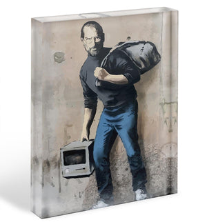 Banksy Steve Jobs Acrylic Block - Canvas Art Rocks - 1
