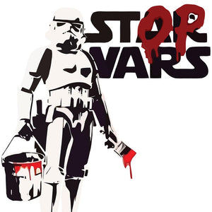 Banksy Stop Wars Wall Sticker - Canvas Art Rocks