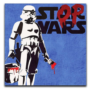 Banksy Stop Wars Star Wars Print - Canvas Art Rocks - 2