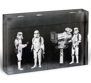 Banksy Stormtroopers Filming Oscars Acrylic Block - Canvas Art Rocks - 1