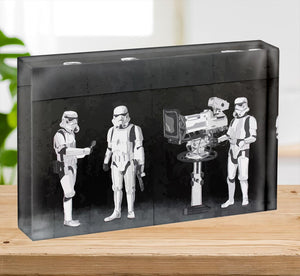 Banksy Stormtroopers Filming Oscars Acrylic Block - Canvas Art Rocks - 2