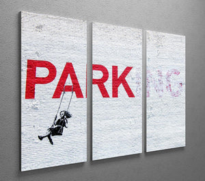 Banksy Swing Girl 3 Split Panel Canvas Print - Canvas Art Rocks