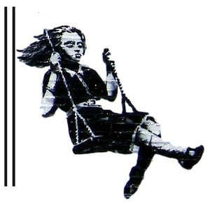 Banksy Swing Girl Wall Sticker - Canvas Art Rocks