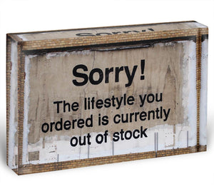 Banksy The Lifestyle You Ordered Acrylic Block - Canvas Art Rocks - 1