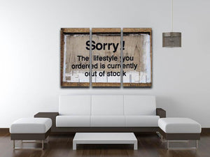 Banksy The Lifestyle You Ordered 3 Split Canvas Print - Canvas Art Rocks
