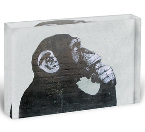 Banksy The Thinker Monkey Acrylic Block - Canvas Art Rocks - 1
