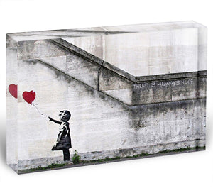Banksy There is Always Hope Acrylic Block - Canvas Art Rocks - 1