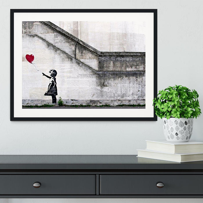 Banksy There is Always Hope Framed Print