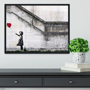 Banksy There is Always Hope Framed Print - Canvas Art Rocks - 2