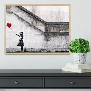 Banksy There is Always Hope Framed Print - Canvas Art Rocks - 4