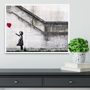 Banksy There is Always Hope Framed Print - Canvas Art Rocks -6