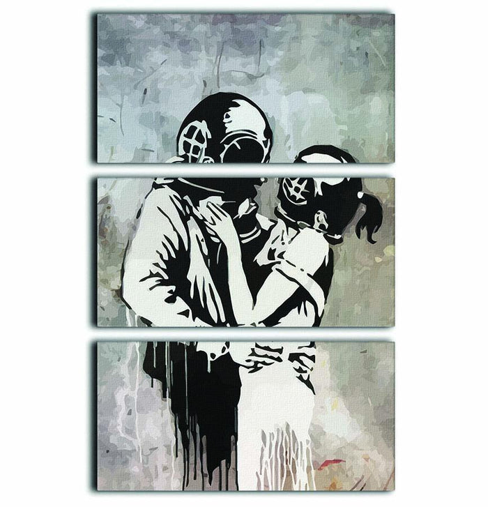 Banksy Think Tank 3 Split Panel Canvas Print