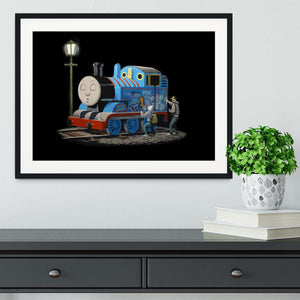 Banksy Thomas the Tank Engine Framed Print - Canvas Art Rocks - 1