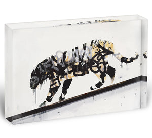 Banksy Tiger Acrylic Block - Canvas Art Rocks - 1