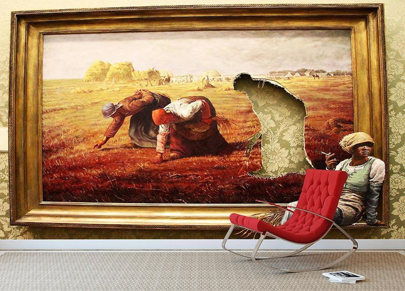 Banksy Time Out Wall Mural Wallpaper - Canvas Art Rocks - 1
