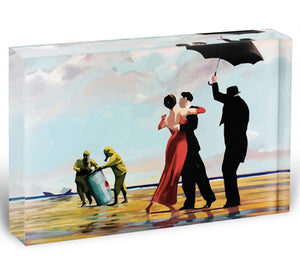 Banksy Toxic Beach Acrylic Block - Canvas Art Rocks - 1