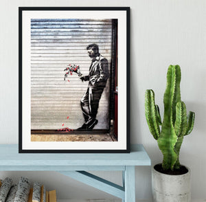 Banksy Waiting in Vain Framed Print