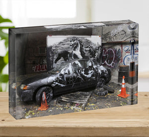 Banksy War Horse Acrylic Block - Canvas Art Rocks - 2