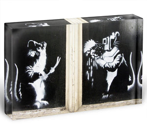 Banksy Welding Rats Acrylic Block - Canvas Art Rocks - 1