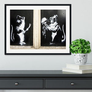 Banksy Welding Rats Framed Print - Canvas Art Rocks - 1