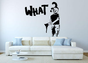 Banksy What Wall Sticker - Canvas Art Rocks
