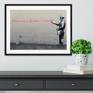 Banksy What We Do In Life Framed Print - Canvas Art Rocks - 1