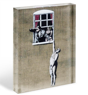 Banksy Window Lovers Acrylic Block - Canvas Art Rocks - 1