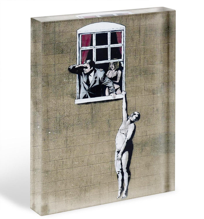 Banksy Window Lovers Acrylic Block