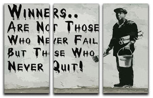 Banksy Winners Are Not 3 Split Panel Canvas Print - Canvas Art Rocks