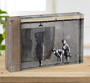 Banksy Woman In Shower Acrylic Block - Canvas Art Rocks - 2