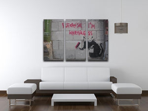 Banksy Worthless Rat 3 Split Panel Canvas Print - Canvas Art Rocks - 4