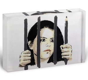 Banksy Zehra Dogan New York Acrylic Block - Canvas Art Rocks - 1