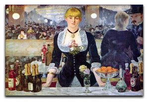 Bar in the Folies-Bergere by Manet Canvas Print or Poster  - Canvas Art Rocks - 1