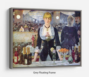 Bar in the Folies-Bergere by Manet Floating Frame Canvas