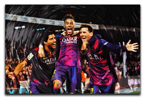 Barcelona Suarez Messi Neymar Canvas Print or Poster  - Canvas Art Rocks - 1