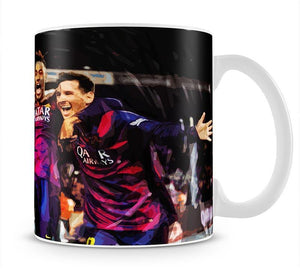 Barcelona Suarez Messi Neymar Mug - Canvas Art Rocks - 1