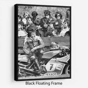 Barry Sheene motorcycle racer Floating Frame Canvas