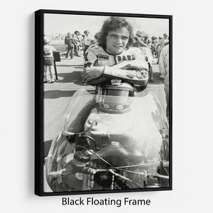 Barry Sheene motorcycle racing champion Floating Frame Canvas