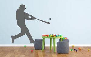 Baseball Player Wall Sticker - Canvas Art Rocks