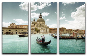 Basilica Santa Maria della Salute sunny day 3 Split Panel Canvas Print - Canvas Art Rocks - 1