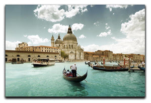 Basilica Santa Maria della Salute sunny day Canvas Print or Poster  - Canvas Art Rocks - 1