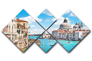 Basilica di Santa Maria della Salute 4 Square Multi Panel Canvas  - Canvas Art Rocks - 1