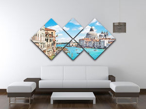 Basilica di Santa Maria della Salute 4 Square Multi Panel Canvas  - Canvas Art Rocks - 3