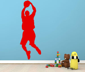 Basket Ball Jump Shot Wall Sticker - Canvas Art Rocks