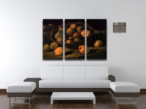 Basket of Apples by Van Gogh 3 Split Panel Canvas Print - Canvas Art Rocks - 4