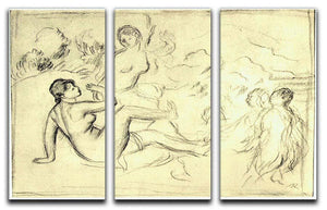 Bather 2 by Renoir 3 Split Panel Canvas Print - Canvas Art Rocks - 1